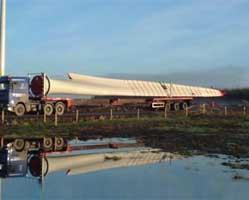 Transport turbine eoliene